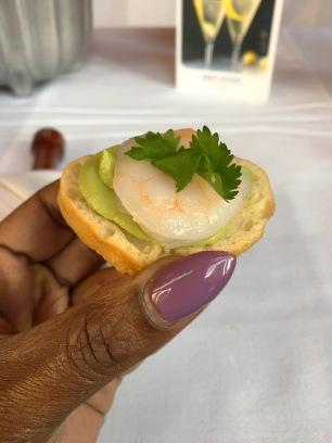 Shrimp & Avacado Crositini